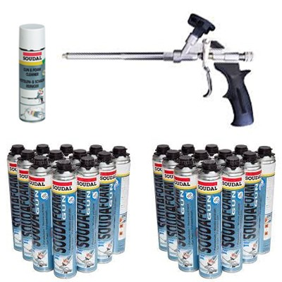 Expanding Foam Deal - 24 Cans, Cleaner & Pro Gun